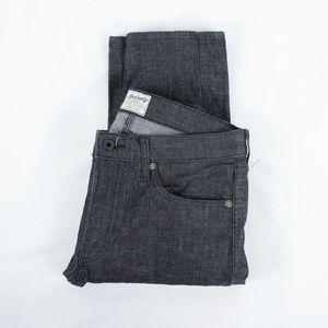 The Kennedy Slim Straight Raw Black Denim Jeans